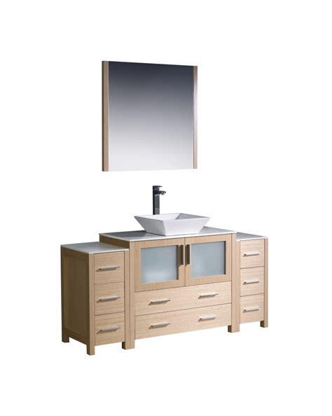 60 inch vanity light 60 inch vessel sink bathroom vanity in light oak