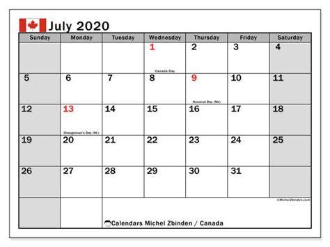 calendar july  canada michel zbinden en