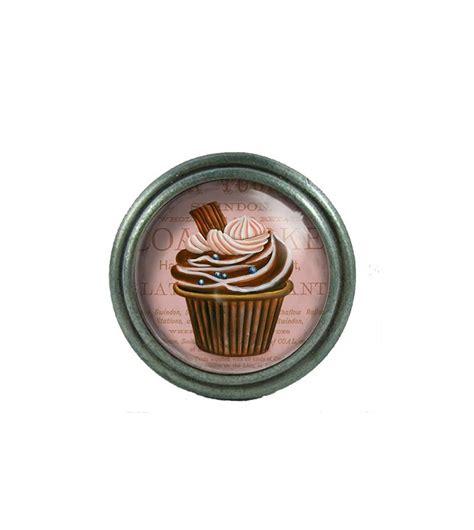 bouton de porte de cuisine bouton de meuble cupcake marron au chocolat déco bistro