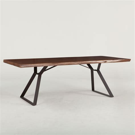 London Loft 80? Solid Wood Live Edge Dining Table in