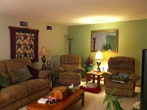 two tone living room walls interior painting living room with warm two toned green