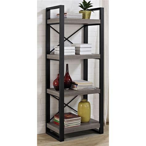 Reclaimed Wood Media Storage Tower In Free Standing Shelves