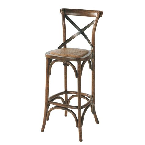 chaise de bar en rotin chaise de bar en rotin et chêne effet vieilli tradition