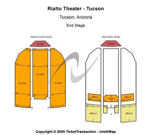 Rialto Theatre  Tucson Seating Chart