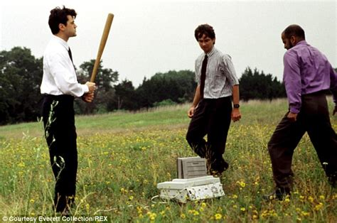 Office Space Smashing Printer by Michael Bolton Pokes At Himself In Hilarious Office