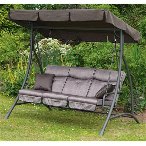 canap swing exterior wicker 2 person upholstered patio swing with