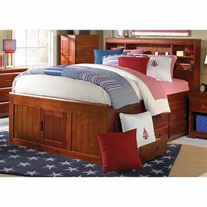 Donco, Bookcase, Bed, -, Merlot