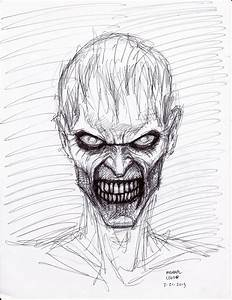 Zombie sketch 3-24-2013 by myconius on DeviantArt