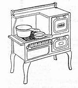 Coloring Stove Gas Drawing Kitchen Sketch Night Stand Roper Template Drawings Printable Sink 1920s Nightstand Costumes Stands Visit Everyday Then sketch template