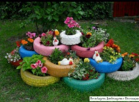 diy rainbow tire flower pots gardening that i