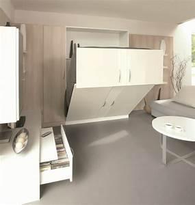 Lit Armoire Gain De Place : le gain de place ~ Premium-room.com Idées de Décoration