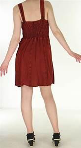 Robe Boheme Courte : robe courte d 39 t esprit boh me au bustier la amala rouge ~ Melissatoandfro.com Idées de Décoration