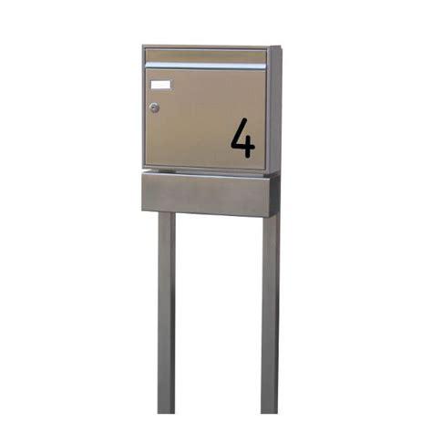 standbriefkasten mit hausnummer standbriefkasten edelstahl mit hausnummer seh1 smartes wohnen