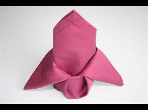 servietten falten lilie napkin folding
