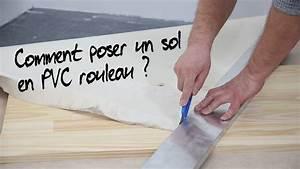 comment poser un sol pvc en rouleau youtube With revetement de sol pvc imitation parquet