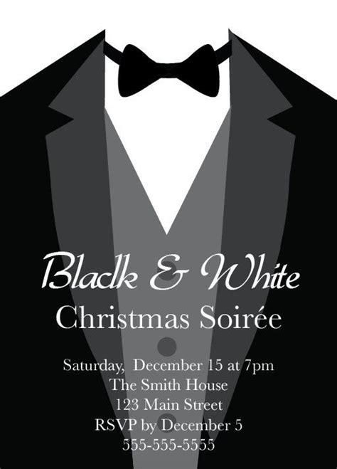 black  white party tuxedo formal black tie