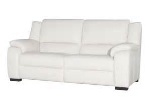 canapé relax blanc canapé fixe relaxation électrique 3 places en cuir