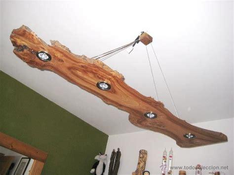 lampara de techo en madera de olmo vintage lamparas