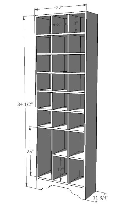 shoe rack plans  measurement  woodworking