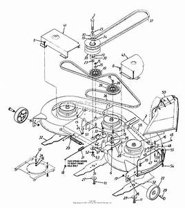 Mtd 136p675h000  1996  Parts Diagram For Mowing Deck Assembly