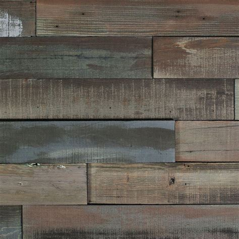 wall planks nuvelle deco planks weathered gray 1 2 in thick x 4 in wide x 24 in length solid hardwood