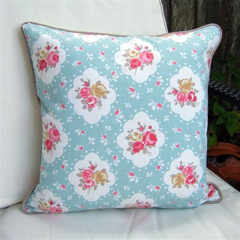 shabby chic cushions shabby chic floral rose cushion by lovely jubbly designs notonthehighstreet com
