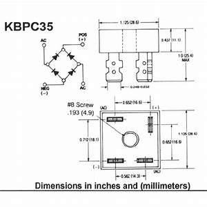 Rectifier Bridge Kbpc3510  35a  1000v  Mb