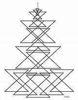 Geometric Coloring Pages Print Candlestick sketch template