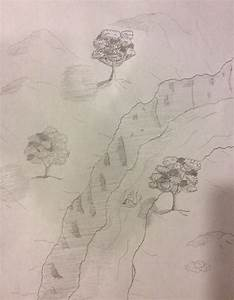 Drawing No. 7 – Trees by a Cliff – Michael Kravchuk
