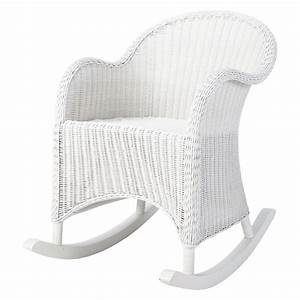 Rocking Chair Maison Du Monde : rocking chair enfant en rotin blanc oc an maisons du monde ~ Teatrodelosmanantiales.com Idées de Décoration