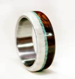 mens turquoise wedding rings mens wedding band wood w antler turquoise staghead designs wedding wedding ring and awesome