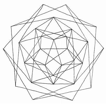 Geometric Coloring Pages Line Geometry Drawing Mandala