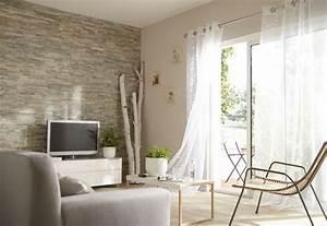 Decoration Mur Interieur : mur de salon en plaquettes de parement mur de parement pinterest plaquette de parement ~ Teatrodelosmanantiales.com Idées de Décoration