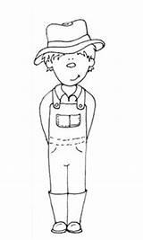 Farmer Coloring Printable Boy Sheet Farm Colouring Farmers Wife Grace Clipart Google Animals sketch template