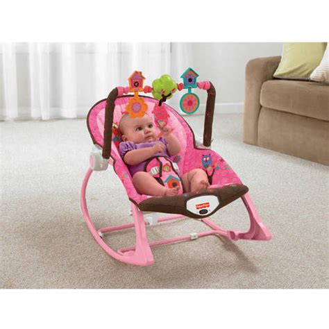 baby rocking chair walmart fisher price infant to toddler rocker sleeper pink owls