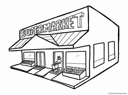 Clipart Grocery Market Library Cliparts Supermarket Clip