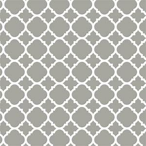 Liberty 18 in Gray Quatrefoil Adhesive Shelf Liner-DLN005