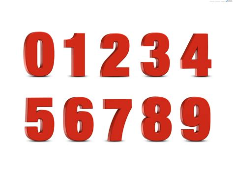 pictures of numbers for 3d numbers set psdgraphics
