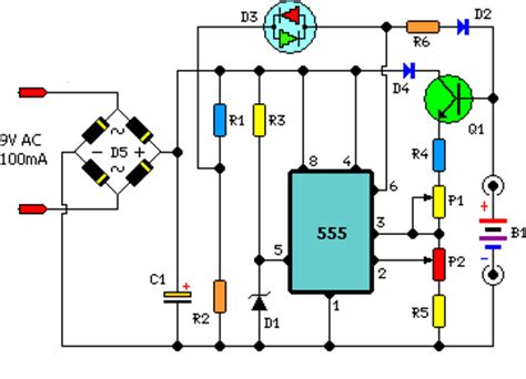 Nimh Nicd Battery Charger Circuit Project
