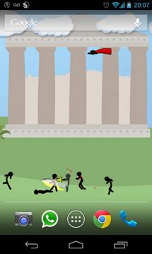 Stickman Wallpaper Brings Pixelated Warriors Together In