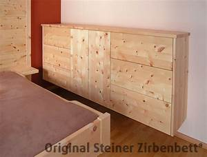Kommode Mit Türen Und Schubladen : zirbenholz kommode freischwebende massivholz kommode mit grifflosen schubladen und t ren ~ Heinz-duthel.com Haus und Dekorationen
