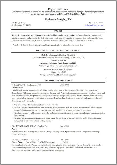 21760 resume exles for nursing registered resume rehab resume
