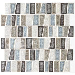 shop american olean delfino crackle sea side glass mosaic indoor outdoor wall tile common 12