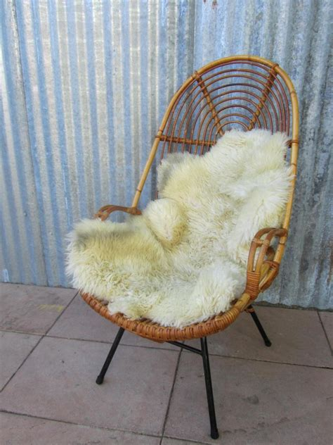 mid century rattan high back chair for sale at pamono
