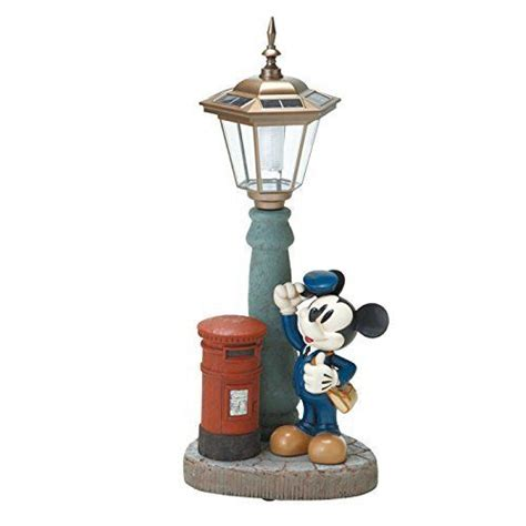 disney mickey mouse post garden object ornament solar