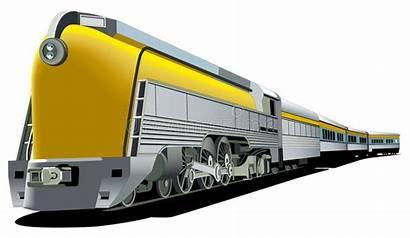Train Fashioned Yellow Vector