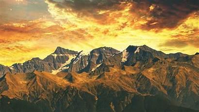 India Mountains Sunset Himalaya 4k Widescreen Background