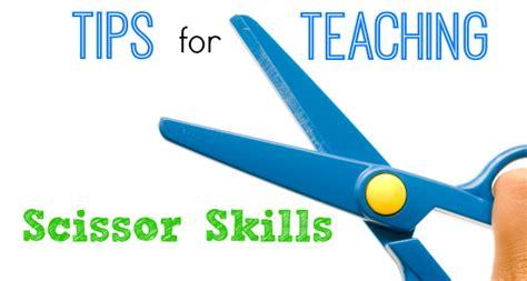 tips for teaching scissor cutting skills 567 | scissor skills slider