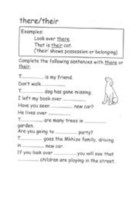 English Worksheets Grammartheretheir
