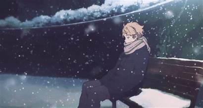 Snow Sad Alone Kyoukai Kanata Kanbara Akihito